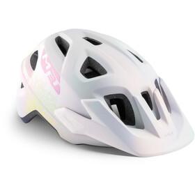 MET Eldar Helm Kinder iridescent white texture